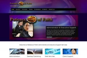Patienc of Faith Administrative & Executive Support Services | KESHANDE Technology Website Design